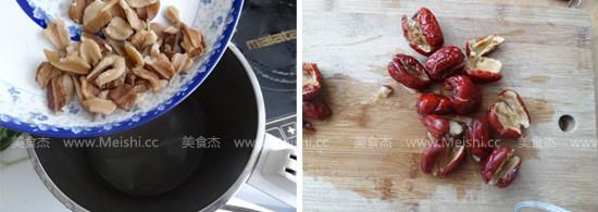 核桃红枣米糊的做法图解