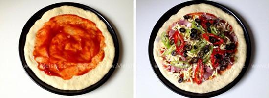 黑橄榄培根匹萨怎么做