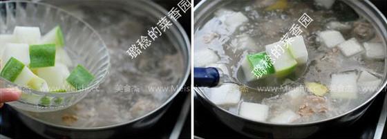 带皮冬瓜排骨汤的简单做法