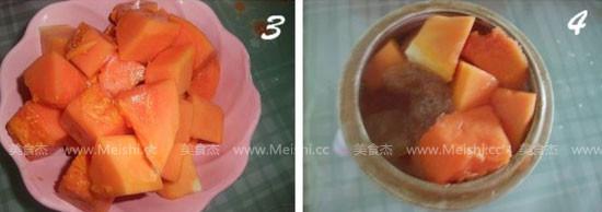 冰糖雪耳炖木瓜的做法图解