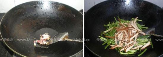 芦蒿苔炒香干的做法图解