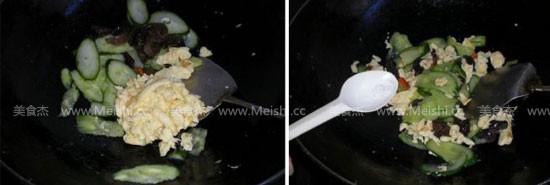 黄瓜木耳炒鸡蛋怎么吃
