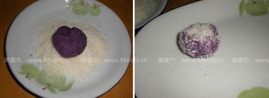 紫薯椰蓉球怎么吃
