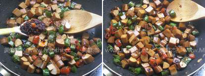 豆豉炒香干的简单做法