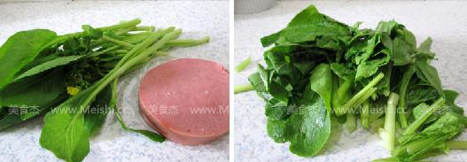火腿炒白菜苔的做法大全