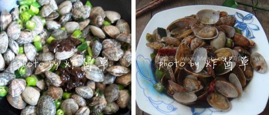 酱爆花蛤的简单做法