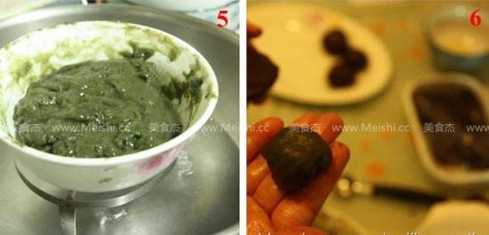 汤种抹茶Q心红豆面包的家常做法