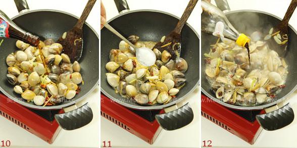 葱姜炒蛤蜊的简单做法