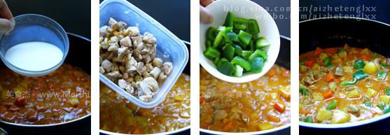 娘惹咖喱鸡焗饭的做法图解