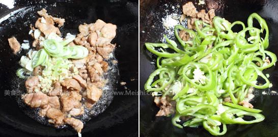 尖椒炒肉的家常做法