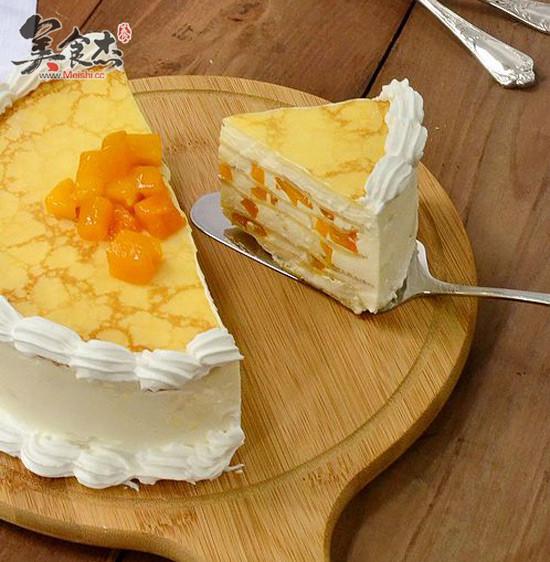 千层奶酪芒果蛋糕怎么煸