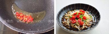 白灼金针菇的简单做法