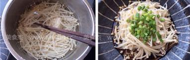 白灼金针菇的家常做法