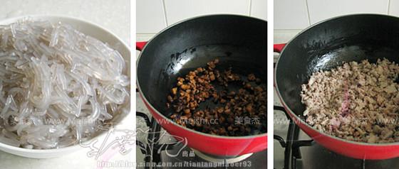 肉末粉丝香菇饼的简单做法