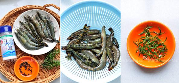 迷迭香盐烤大虾的做法大全