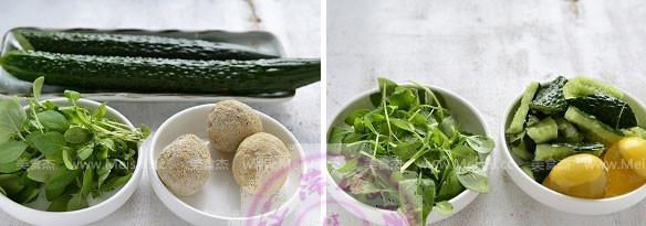 荆芥黄瓜拌变蛋的做法大全