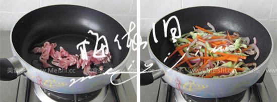 杂蔬肉丝炒面的简单做法