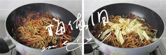 杂蔬肉丝炒面怎么吃