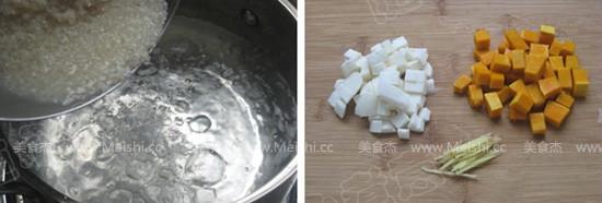 南瓜山药牛肉粥的做法图解
